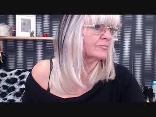 Marvelous grannie HottBlondeToLove strip cam ex gf tugging